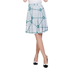 Network Social Abstract A Line Skirt
