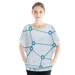 Network Social Abstract Blouse