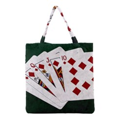 Poker Hands   Royal Flush Diamonds Grocery Tote Bag by FunnyCow