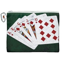 Poker Hands   Royal Flush Diamonds Canvas Cosmetic Bag (xxl) by FunnyCow