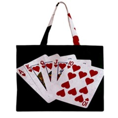 Poker Hands   Royal Flush Hearts Mini Tote Bag by FunnyCow