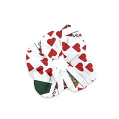 Poker Hands   Royal Flush Hearts Velvet Scrunchie by FunnyCow