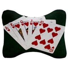 Poker Hands   Royal Flush Hearts Velour Seat Head Rest Cushion by FunnyCow