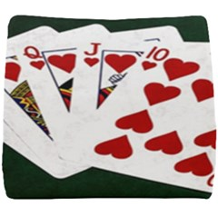 Poker Hands   Royal Flush Hearts Seat Cushion by FunnyCow