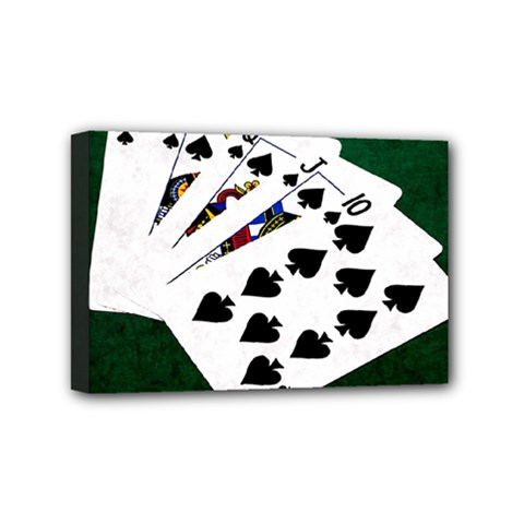 Poker Hands   Royal Flush Spades Mini Canvas 6  X 4  by FunnyCow