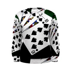 Poker Hands   Royal Flush Spades Women s Sweatshirt by FunnyCow
