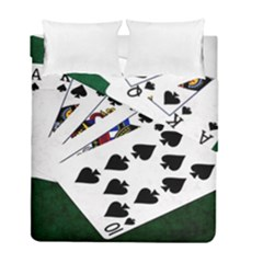 Poker Hands   Royal Flush Spades Duvet Cover Double Side (full/ Double Size) by FunnyCow