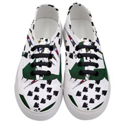 Poker Hands   Royal Flush Spades Women s Classic Low Top Sneakers