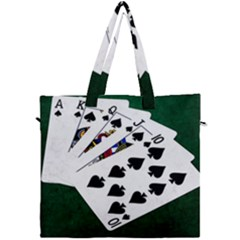 Poker Hands   Royal Flush Spades Canvas Travel Bag by FunnyCow