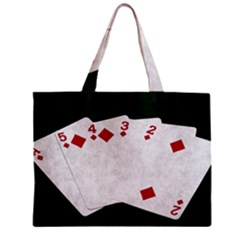 Poker Hands   Straight Flush Diamonds Mini Tote Bag by FunnyCow