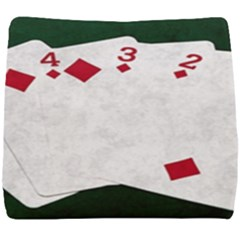 Poker Hands   Straight Flush Diamonds Seat Cushion by FunnyCow