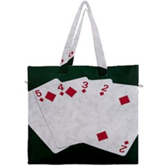 Poker Hands   Straight Flush Diamonds Canvas Travel Bag by FunnyCow