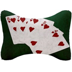 Poker Hands Straight Flush Hearts Seat Head Rest Cushion by FunnyCow