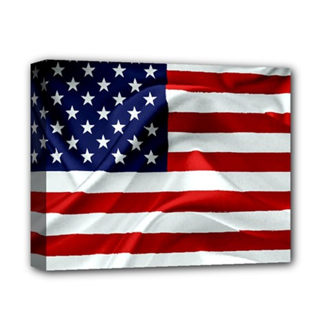 American Usa Flag Deluxe Canvas 14  X 11  by FunnyCow