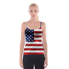 American Usa Flag Spaghetti Strap Top by FunnyCow