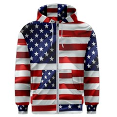 American Usa Flag Men s Zipper Hoodie by FunnyCow