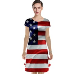 American Usa Flag Cap Sleeve Nightdress by FunnyCow
