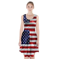 American Usa Flag Racerback Midi Dress by FunnyCow