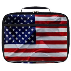 American Usa Flag Full Print Lunch Bag by FunnyCow