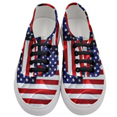 American Usa Flag Women s Classic Low Top Sneakers