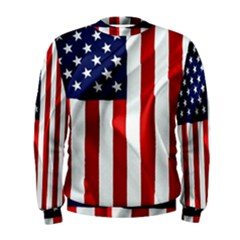American Usa Flag Vertical Men s Sweatshirt by FunnyCow