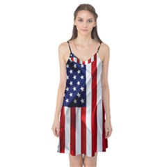 American Usa Flag Vertical Camis Nightgown by FunnyCow