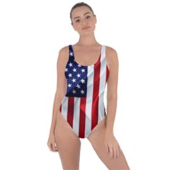 American Usa Flag Vertical Bring Sexy Back Swimsuit by FunnyCow