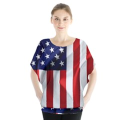 American Usa Flag Vertical Blouse by FunnyCow