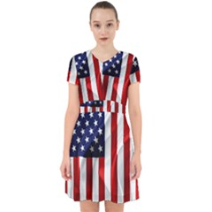 American Usa Flag Vertical Adorable In Chiffon Dress by FunnyCow