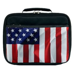 American Usa Flag Vertical Lunch Bag by FunnyCow