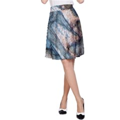 Earth Art Natural Rock Grey Stone Texture A Line Skirt by CrypticFragmentsDesign