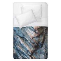 Earth Art Natural Rock Grey Stone Texture Duvet Cover (single Size) by CrypticFragmentsDesign