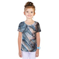 Earth Art Natural Rock Grey Stone Texture Kids  One Piece Tee by CrypticFragmentsDesign