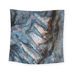 Earth Art Natural Rock Grey Stone Texture Square Tapestry (small) by CrypticFragmentsDesign