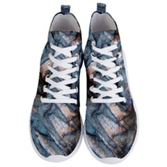 Earth Art Natural Rock Grey Stone Texture Men s Lightweight High Top Sneakers