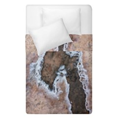 Earth Art Natural Texture Salt Of The Earth Duvet Cover Double Side (single Size) by CrypticFragmentsDesign
