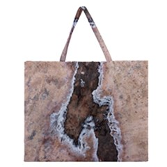 Earth Art Natural Texture Salt Of The Earth Zipper Large Tote Bag by CrypticFragmentsDesign