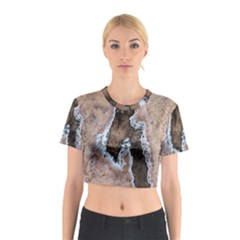 Earth Art Natural Texture Salt Of The Earth Cotton Crop Top by CrypticFragmentsDesign