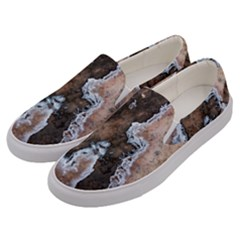 Earth Art Natural Texture Salt Of The Earth Men s Canvas Slip Ons by CrypticFragmentsDesign
