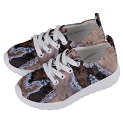 Earth Art Natural Texture Salt Of The Earth Kids  Lightweight Sports Shoes by CrypticFragmentsDesign