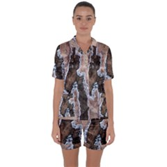 Earth Art Natural Texture Salt Of The Earth Satin Short Sleeve Pyjamas Set by CrypticFragmentsDesign