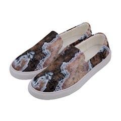 Earth Art Natural Texture Salt Of The Earth Women s Canvas Slip Ons by CrypticFragmentsDesign