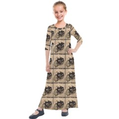 Indian Motorcycle Kids  Quarter Sleeve Maxi Dress