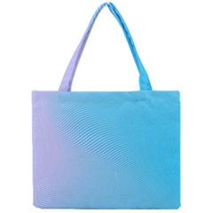 Background Graphics Lines Wave Mini Tote Bag