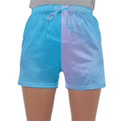 Background Graphics Lines Wave Sleepwear Shorts