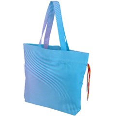 Background Graphics Lines Wave Drawstring Tote Bag
