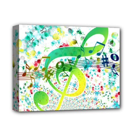 Points Circle Music Pattern Deluxe Canvas 14  X 11
