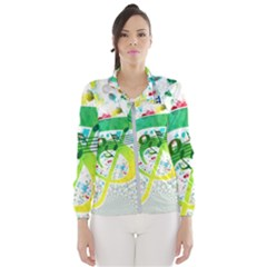 Points Circle Music Pattern Windbreaker (women) by Nexatart