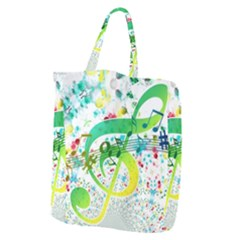Points Circle Music Pattern Giant Grocery Tote