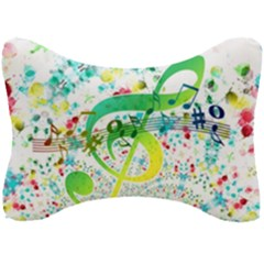 Points Circle Music Pattern Seat Head Rest Cushion